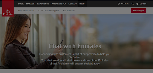 chat with emirates