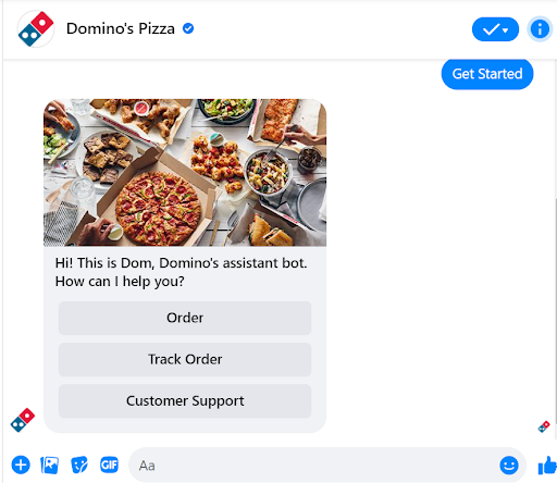 domino pizza chatbot