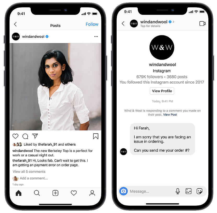 instagram chatbot responding to mentions