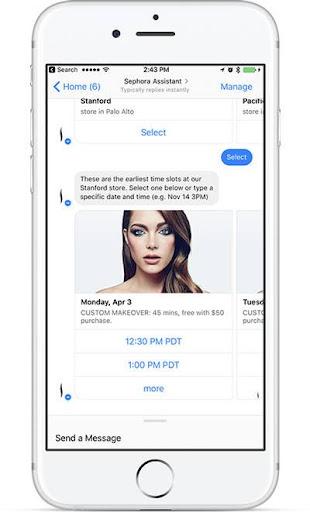 sephora makeup chatbot assistant
