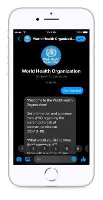world health organization chatbot
